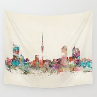 new zealand Wall Tapestries featuring auckland new zealand by bri.buckley