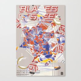 Blades of Steel Cover Canvas Print
