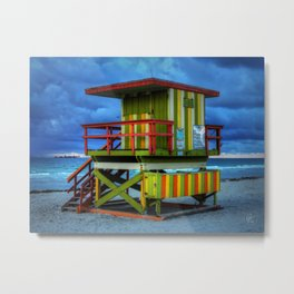Miami - South Beach Lifeguard Stand 006 Metal Print