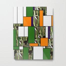 Cactus Garden Art Rectangles 5 Metal Print