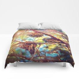 Autumn pine cones  #photography Comforters