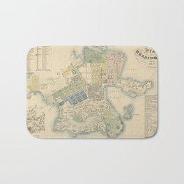 Vintage Map of Helsinki Finland (1837) Bath Mat