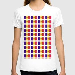 flag of andorra- andorre,andorra,andorran,catalan,pyrenees,pyrenean T-shirt
