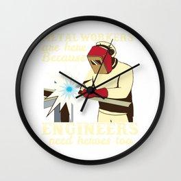 metal workers engineers metal workers engineers Wall Clock
