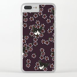 Gardener Tuxedo Cat Clear iPhone Case