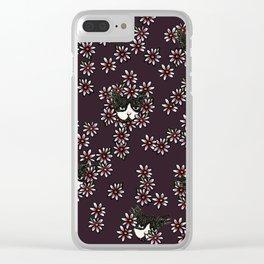 Gardener Tuxedo Cat Clear iPhone Case