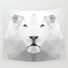 Lion - White Geo Series 2013 Wall Tapestry