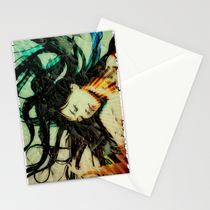 Girl's Dream in a Dream. Stationery Cards