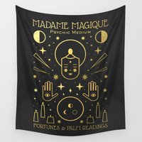 occult Wall Tapestries featuring Madame Magique by Carly Watts
