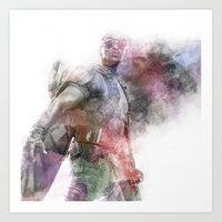 falcon Art Prints featuring Falcon by NKlein Design
