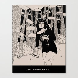 20. JUDGEMENT Canvas Print