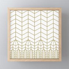ART DECO IN WHITE Framed Mini Art Print