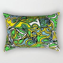 Beatbox on Flames Rectangular Pillow