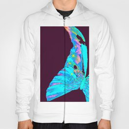 Turquoise Butterfly On A Dark Background #decor #buyart #society6 Hoody