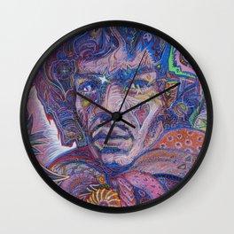 Psychedelic Haze Portrait Wall Clock