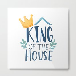 King Dad Metal Print