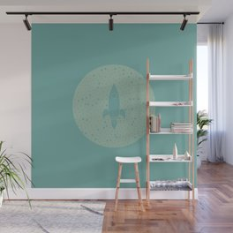 Vintage Fly Me to the Stars Wall Mural