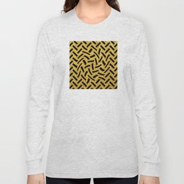 Sultry, Avant-Garde Black and Glitter Gold Art Deco Long Sleeve T-shirt