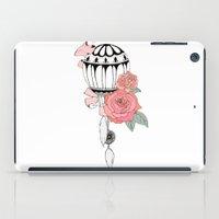 hot air balloon iPad Cases featuring Hot Air Balloon Ride  by holmeg_art