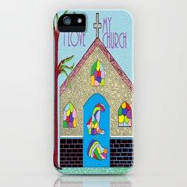 ASL I Love my Church iPhone Case