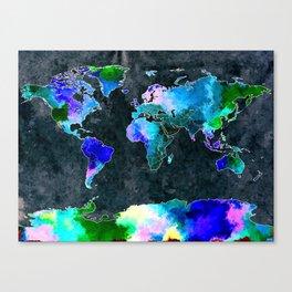 World Dark Grunge Canvas Print