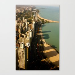 Chicago Shadow Skyline, 002 Canvas Print