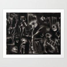 MM - 001 - Charcoal  Art Print