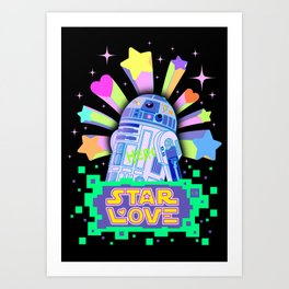 R2-D2 Star Love Art Print
