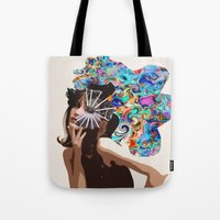 jane davenport Tote Bags featuring Jane by Katy Hirschfeld