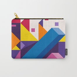 Abstract modern geometric background. Composition 17 Carry-All Pouch