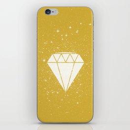 Space Diamond (gold) iPhone Skin