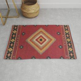 N14 - Red Anthropologie Oriental Moroccan Traditional Artwork. Rug