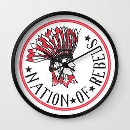 Nation of Rebels Wall Clock
