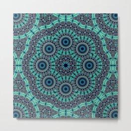 Water Mandala Metal Print