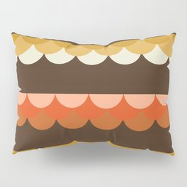 Be Still - scallop retro vintage 70s style colors 1970s throwback Pillow Sham