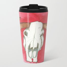 Death Meets the Flowers Metal Travel Mug