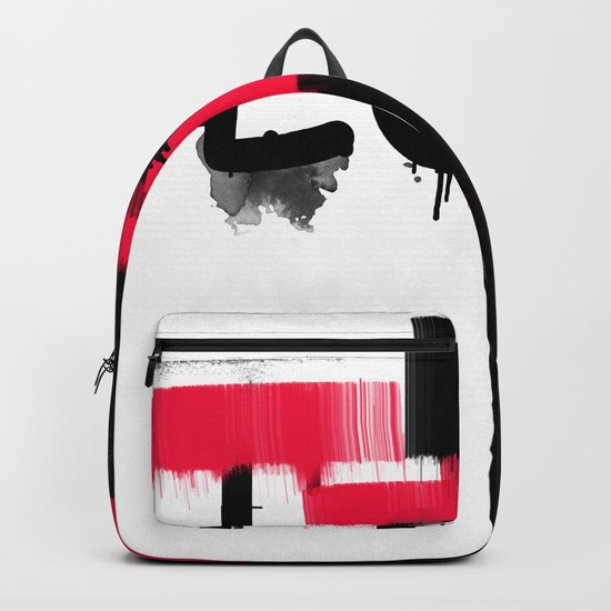 Black and red white pattern Love . Backpack