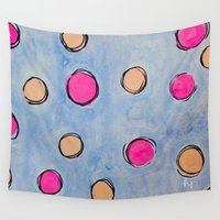 dots Wall Tapestries featuring Dots by HollyJonesEcu