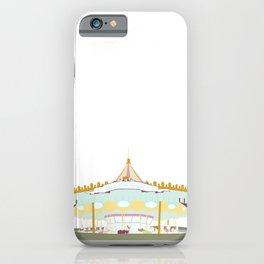 Carousel - white background iPhone Case