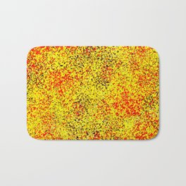 Flame - Abstract, red, yellow and black artistic representation of fire Bath Mat