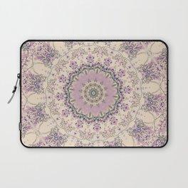 47 Wisteria Circle - Vintage Cream and Lavender Purple Mandala Laptop Sleeve