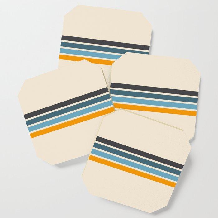 Vintage Retro Stripes Coaster