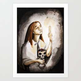 The Candle and Cup Art Print