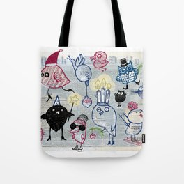 Swedish XMAS birds Tote Bag