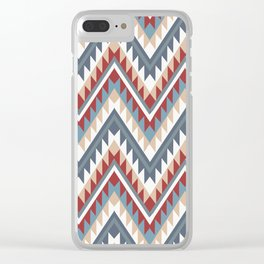American Native Pattern No. 22 Clear iPhone Case