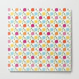 Tulips pattern Metal Print