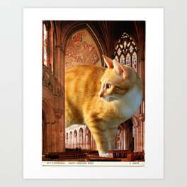 A knave in the nave Art Print