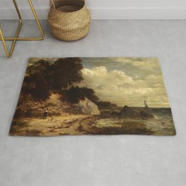 At Larchmont Manor Long Island Sound New York 1890 By David Johnson | Reproduction | Romanticism Lan Rug