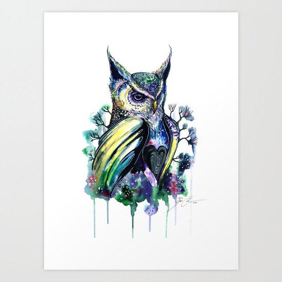 """owl"" Art Print"