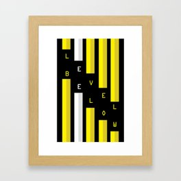 LEVEL BELOW Framed Art Print